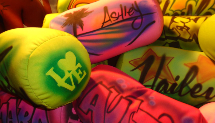 airbrushed hats